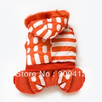 New Orange Reach For The Sky Together Pet Winter Clothing  Dog Four Legs Suit