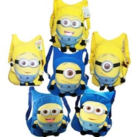 Despicable me milk minions plush toy doll school bag,Hot Free Shipping Cute 3 styles Despicable Me Minion Plush Backpack