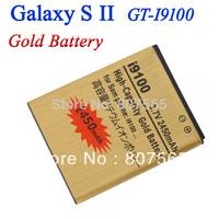 High Capacity 2450mah Gold Battery For Samsung Galaxy S2 SII GT i9100 GT-i9100 Batterie Bateria Batterij Accumulator AKKU PIL