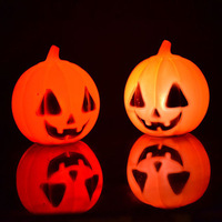 10pcs/lot Halloween Small Pumpkin LED Night Light Decoration  Holiday Lighting  Free Shipping