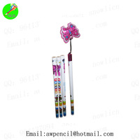 Customized   wooden pencils with  topper,LH-245