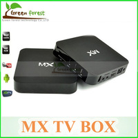 1pcs Original MX TV Box Android tv box  XBMC 1G RAM 8G ROM Dual ARM Cortex A9 WiFi Build Android 4.2.2 Dual Core