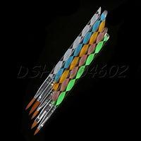 5Pcs Nail Art Designer Acrylic Pen NO.2/4/6/8/10 3D Painting Carving Brush Pen