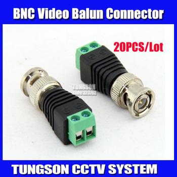 20Pcs lot Mini Coax CAT5 To Camera CCTV BNC UTP Video Balun Connector Adapter BNC Plug For CCTV System. Free Shipping !!