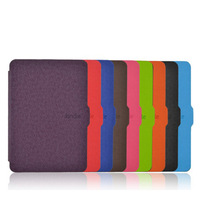 Ultra-slim Magnet PU Leather Paperwhite Case pouch cover for Kindle Paperwhite 9 color 1pcs/lot Free Shipping