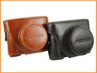 Free shipping High quality Camera Leather Case Bag Cover for FUJI FUJIFILM Finepix X10 X20 LC-X20 Detachable