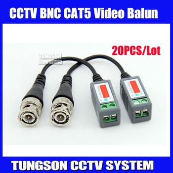 20pcs/lot Twisted BNC Video Balun Passive Transceivers UTP Balun BNC Cat5 CCTV UTP Video Balun up to 3000ft Range,Free shipping