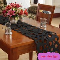 free shipping  black crochet table runner  wholesale runners for table black wedding table runners