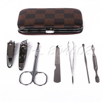 New 7 in 1 Stainless Steel Nail Care Manicure Pedicure Set Kit great gift