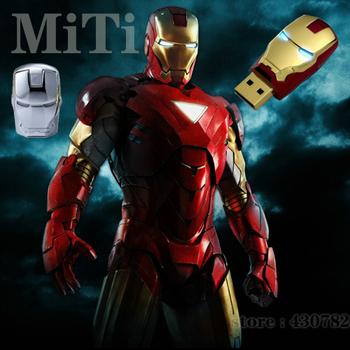 flash drive Free shipping!The unique iron man model USB 2.0 Enough Memory Stick Flash  Drive Flash disk 4G 8G 21MT