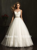 2013 vintage lace sweet princess elegant train wedding dress