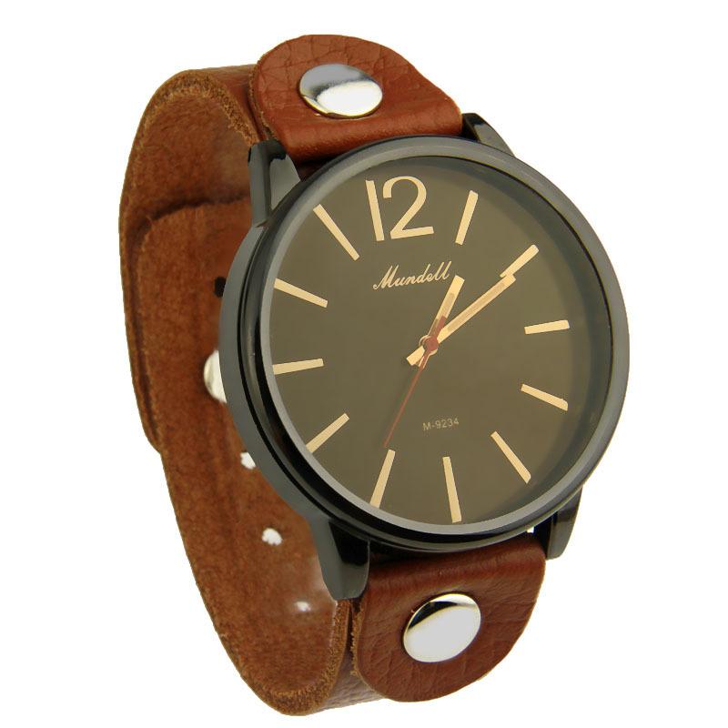 2014 Hot Sell Vintage Watch Fashion Quartz Unisex Wristwatch with Leather Strap for Women Men SDU0541