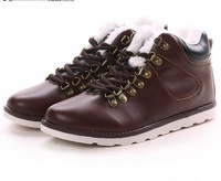 Winter Cotton High Shoes Plus Cotton Rivet Men's Casual Leather shoes Fashion Martin Boots 665