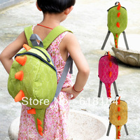 2013 new arrives free shipment Small school bags  3 - 7 years kindergarten children cute backpacks Dinosaur Designs cool bookbag