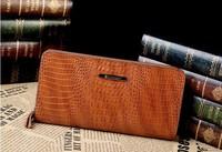 2014 New fashion Alligator Pattern genuine leather men wallet business man purse high quality
