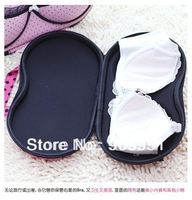 Free  Shipping High-quality color  Bamboo  16 grid Bra storage Bag  Multicolor  storage finishing box