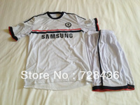 Free shipping 13 /14 Chelsea Away Blue Football Jersey, Soccer suit Male short-sleeve soccer set