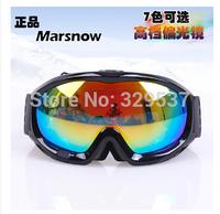Free shipping top grade bilayer Anti-Fog black frame polarized lens ski goggles Sport eyeglass Snowboard Goggles