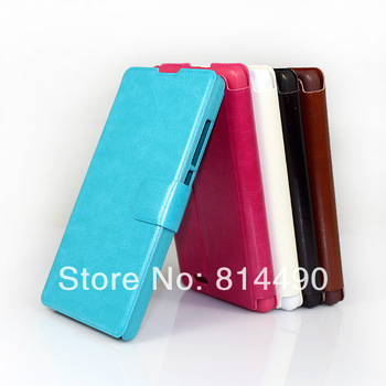 Wholesale luxury leather protective case for lenovo p780 cell phone stand function high quality retail packing freeshipping