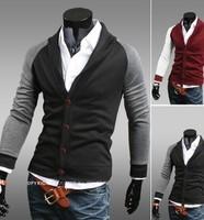 New 2014 Slim Fit V-neck Patchwork Button Casual 2014 New Slim Fit V-neck Patchwork Button mens sweaters Cardigan Men