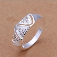 Free Shipping!Wholesale 925 Silver Ring,925 Silver Fashion Jewelry Austria Crystal Fashion Ring SMTR178