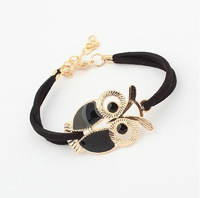 Min.order is $10 (mix order)  Fashion Lovers vintage rose gold owl bracelets jewelry for child wholesale free shipping