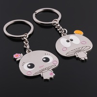2014Handicrafts Keychain SL-132 Emulation Small Mushrooms Keychains Couple Keychain Key Ring For Lovers Souvenir