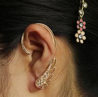 LM-C227 Hot Korean jewelry wholesale ear cuff delicate angel wings  flash drilling earrings ear hook