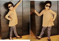 Free Shipping Girls'  Leggings Fashion Leopard Print  1 piece Fit 1-5yrs  Kids Fall Winter Clothing Warm Trousers