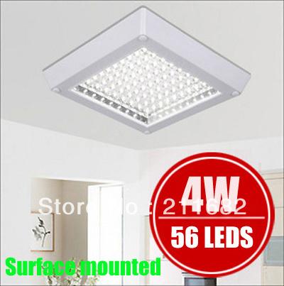 Livraison gratuite led lumière de la cuisine passerelle d'éclairage plafonnier salle de bains blanc/blanche chaude 4w 56 leds. 220v 230v 240v carrés