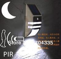NEW Solar White LED  SECURITY LIGHT SHED GARAGE MOTION SENSOR light