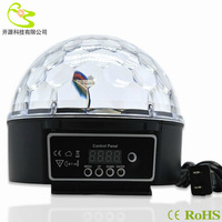 Free shipping Led lamp Digital LED RGB Crystal Magic Ball Effect Light DMX Disco DJ Stage Lighting 85-265V LED Lighting