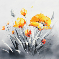 Free shipping Impression flower Paintings Hand painted on Canvas Home improvement mixorder Gift