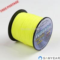 Free shipping 8 strands 15/20LB 1000M Dyneema Braided Fishing Line ---- SUNBANG
