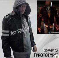 2014 new Prototype 2 cosplay costume jacket coat men's sweater large size clothing