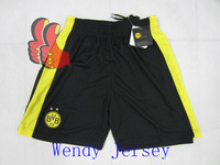 A+++ Germany Borussia Dortmund 2014 New Thailand Home Black Soccer Shorts Football pants Customize Number