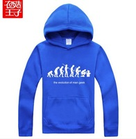 The BIG BANG Sheldon Cooper The Evolution Of Man Geek Logo Winter thick hooded sweater