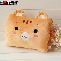 Cartoon pillow hand rest plush hand warmer pillow cushion dual-use package pillow utility car accessories