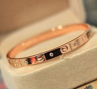 Fashionable and elegant rose gold plating Mosaic gold couple bracelet (both men and women can use), free shipping!!!!!