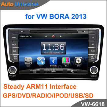 "8"" Car GPS for Volkswagen Bora 2013 with Steady ARM11 Interface GPS/DVD/RADIO/IPOD/USB/SD"