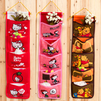 Five-five super-cute cartoon hang the bag pouch small objects  storage bag 3pcs /lot free shipping