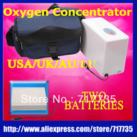 Portable  Oxygenerator Oxygen Concentrator  Mini Car Oxygen Bar  Oxygen SPA Making & Breathing equipment + Spare Battery