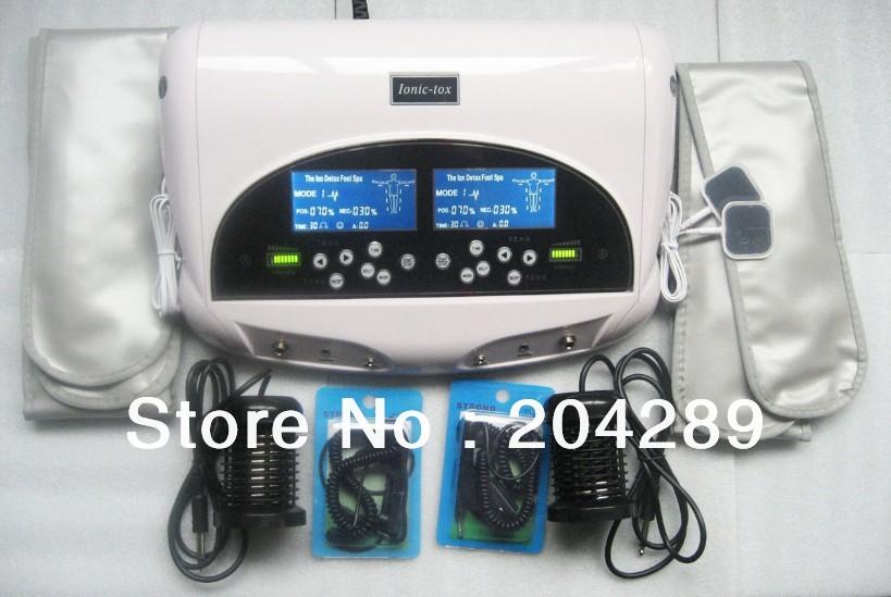 Hot!!!Free and Fast Shipping Detox Machine Foot Spa Machine Detox Machine Dual lon Cleanse Detox Foot Spa(China (Mainland))