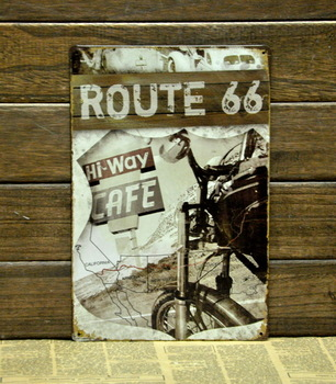 """ROUTE 66""Vintage Metal Tin Poster Sign Wall Decor Fit For BAR COFFEE SHOP HOME"