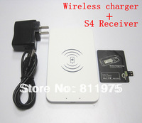 Free Shipping Portable Ultra Slim Qi Receiver Adapter +Wireless Charging Pad Wireless Charger for Samsung Galaxy S4 SIV i9500