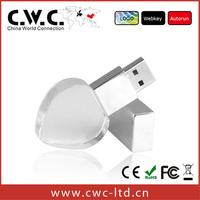 Free shipping wholesale3D laser engraving crystal flash drive usb 1gb 2gb 4gb 8gb 16gb 32gb