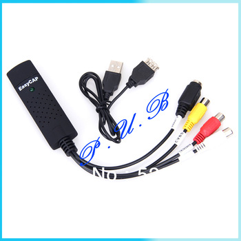 New Easycap USB 2.0 Audio Video VHS to DVD Converter Capture Video & TV Tuner Card Adapter Free Shipping