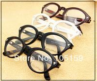 Vintage Men Women Silver  Rivet  Glasses Frame Classic Eye Glasses Fashion Elegant Glasses Frame
