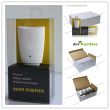 5pcs/lot  European American plug-in mini air purifier room purifier home office air cleaner LED indicator TRUMPXP ZE-86120(China (Mainland))