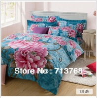 Free shipping Warm Top quality Printed 4PC Home Textile Bedding Set Covers/Bedding Sheet/Pillow Case